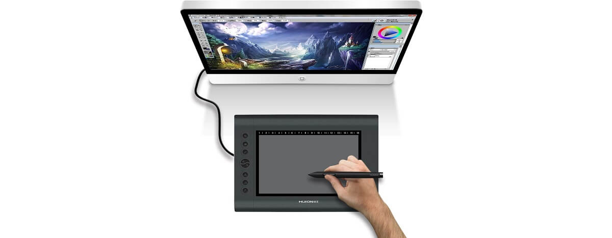 Compare Wacom Intuos Draw Vs Huion H610 Side By Side In 2019