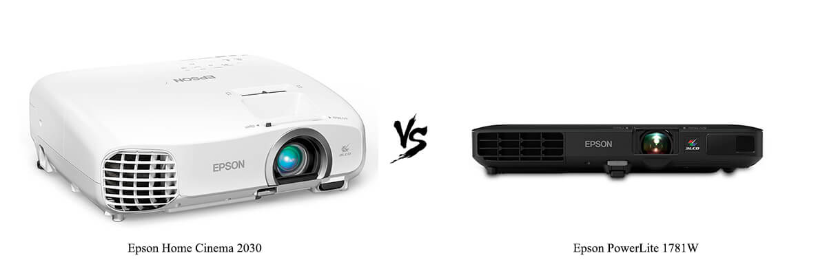 Epson Home Cinema 2030 vs Epson PowerLite 1781W