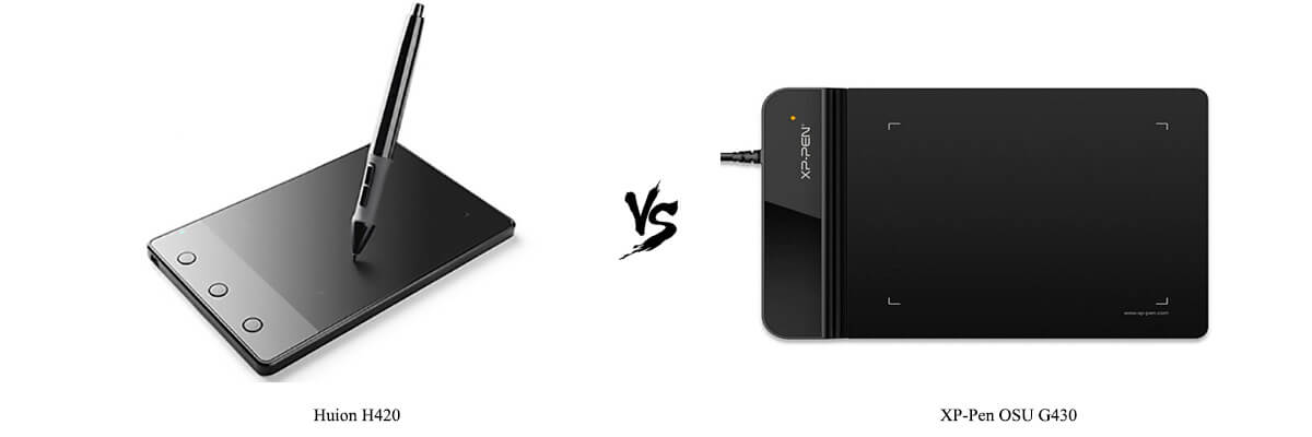 Compare Huion H420 vs XP-Pen OSU G430 side by side in 2019