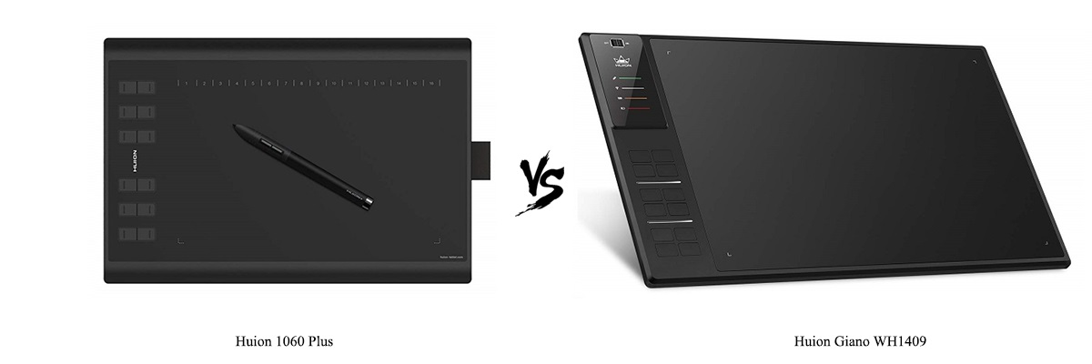 Huion 1060 Plus vs Huion Giano WH1409