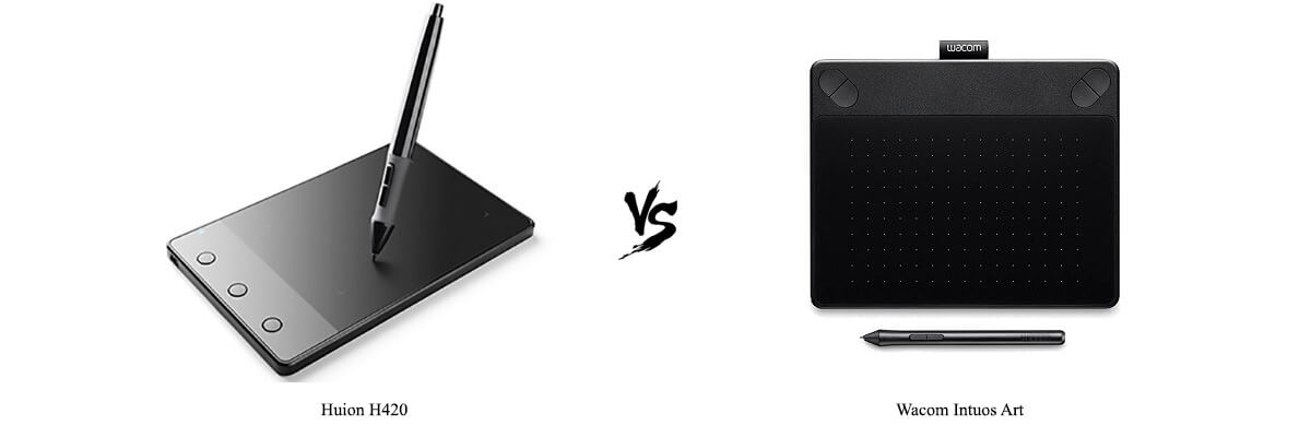 Compare Huion H420 Vs Wacom Intuos Art Side By Side In 2019