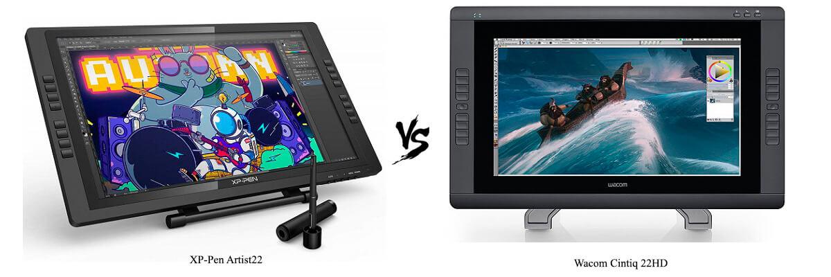 Compare XP-Pen Artist22 vs Wacom Cintiq 22HD side by side in